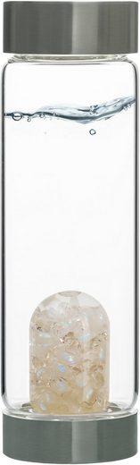 VitaJuwel Wasserkaraffe »Edelsteinflasche ViA Luna«, (Labradorith - Bergkristall)