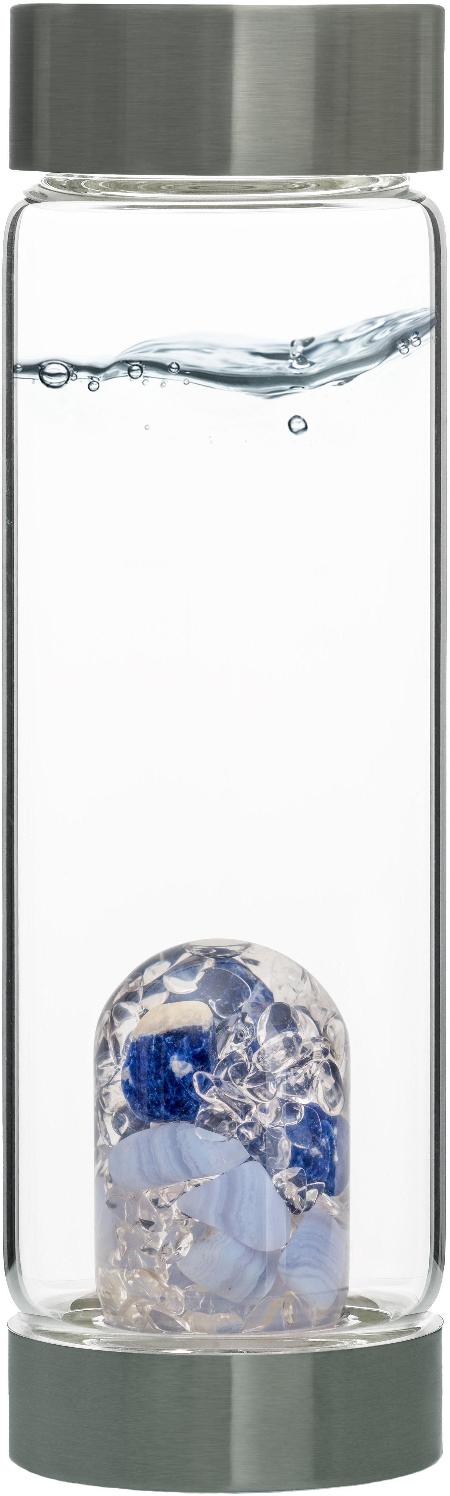 VitaJuwel Wasserkaraffe »Edelsteinflasche ViA Balance«, (Sodalith - Chalcedon - Bergkristall)