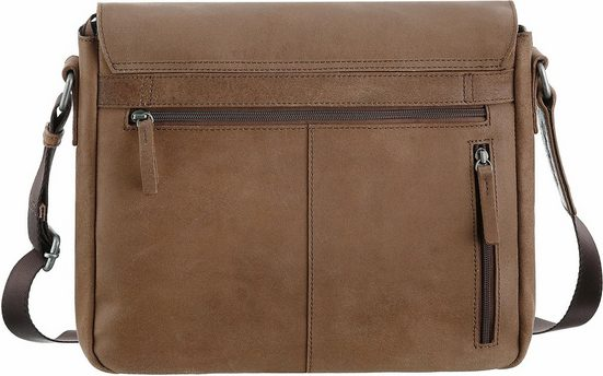 CARGO Umhängetasche mit 11-Zoll Laptopfach, Cargo 503, cognac, M