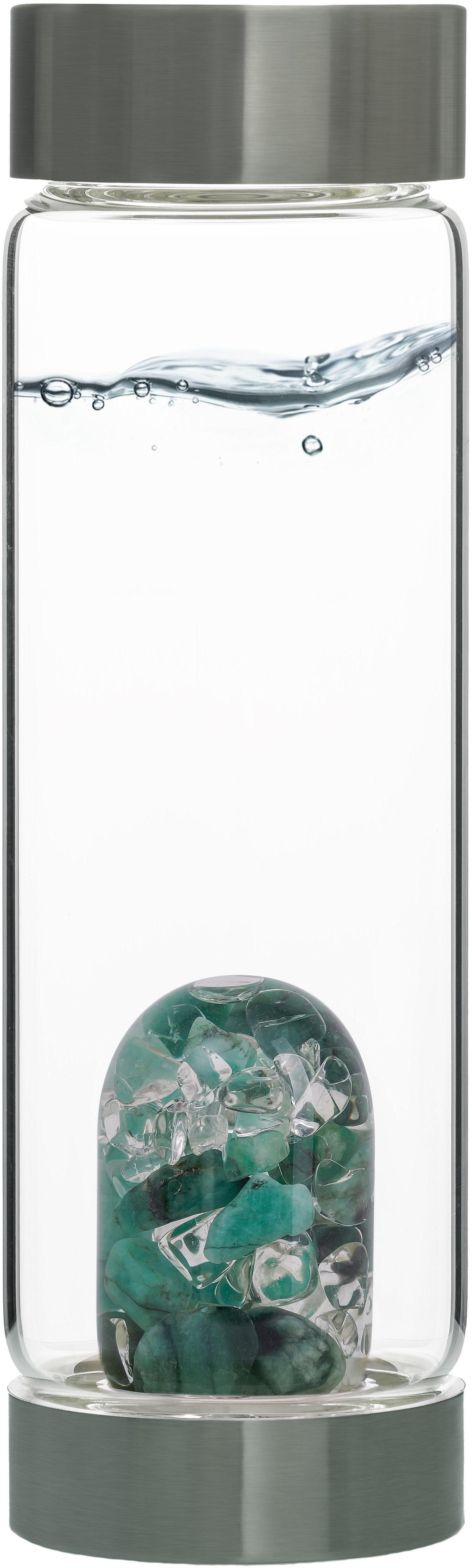 VitaJuwel Wasserkaraffe »Edelsteinflasche ViA Vitality«, (Smaragd - Bergkristall)