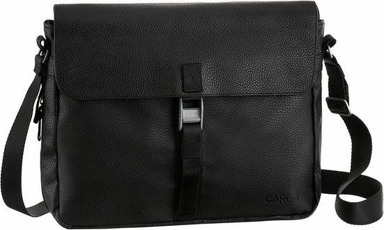 Cargo Businesstasche »Cargo 302, schwarz mit Struktur, L«, mit 10-Zoll Laptopfach