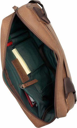 Cognac« zoll 503 10 Mit Cargo Umhängetasche Laptopfach »cargo RUOO1zn