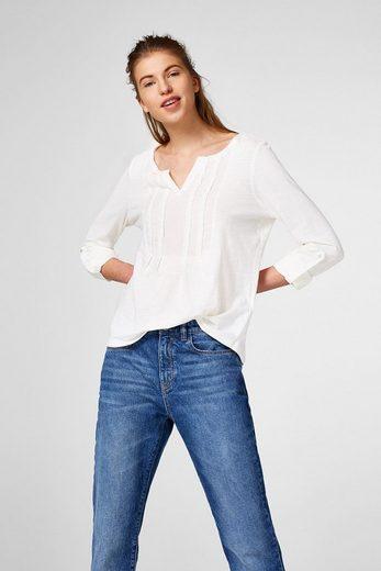 EDC BY ESPRIT Rüschen-Shirt aus 100% Baumwolle