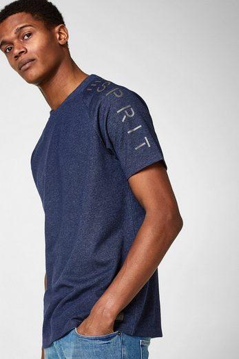 ESPRIT Logo-Shirt aus dichtem Jersey