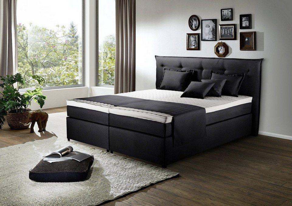 kasper wohndesign boxspringbett stoff versch gr en u farben sasou online kaufen otto. Black Bedroom Furniture Sets. Home Design Ideas