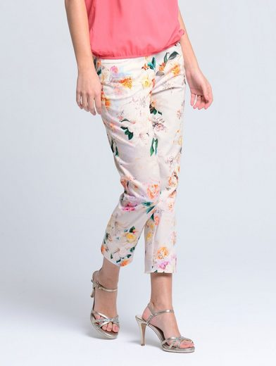 Alba Moda Pants In A Feminine Allover-print