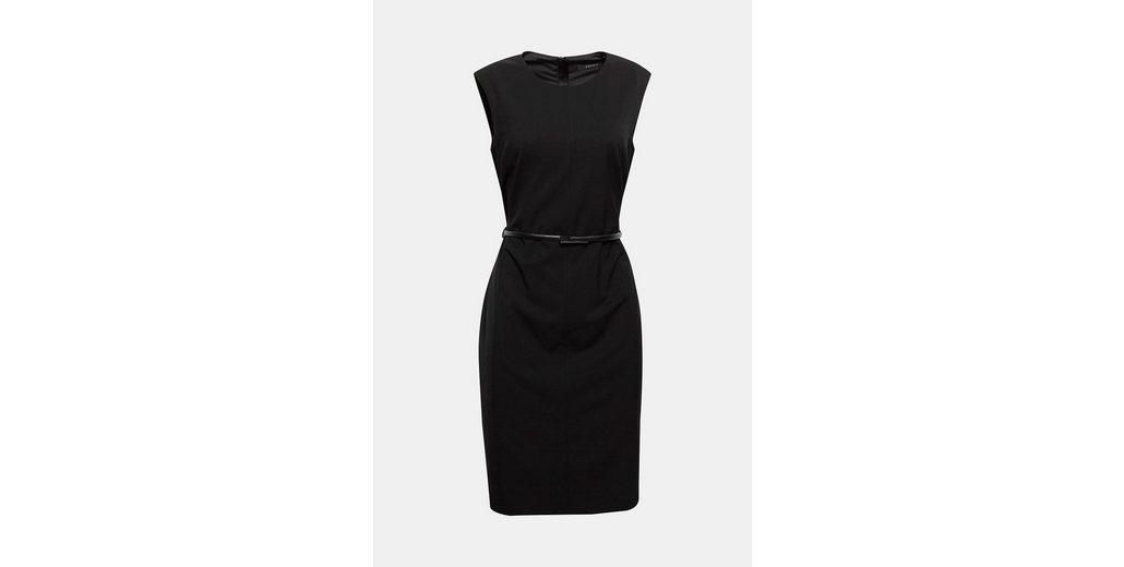 ESPRIT COLLECTION Tailliertes Stretch-Kleid mit Gürtel Günstig Kaufen Exklusiv AKkUEJcGbm