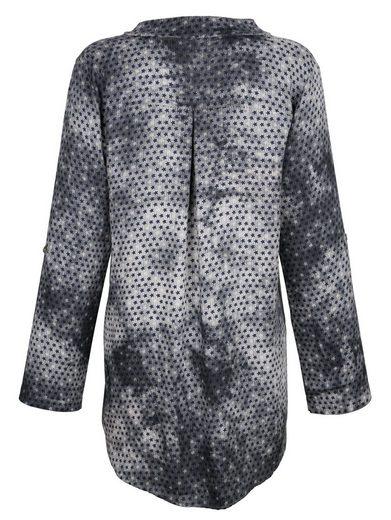 Alba Moda Bluse mit Paillettenbesatz