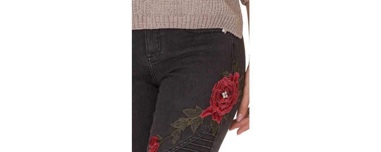 Cartoon Jeans mit Blumenpatches Original Für Günstig Online 5ILdb5P7