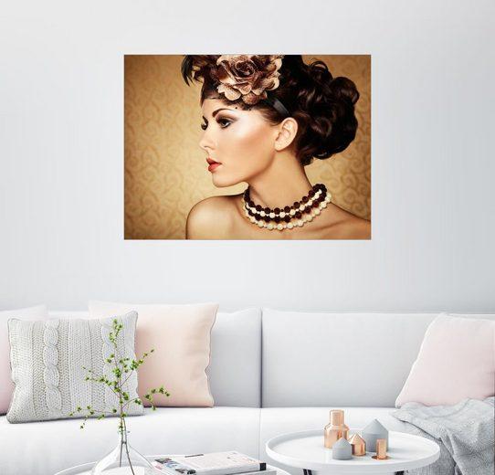 Posterlounge Wandbild »Femme orientale«