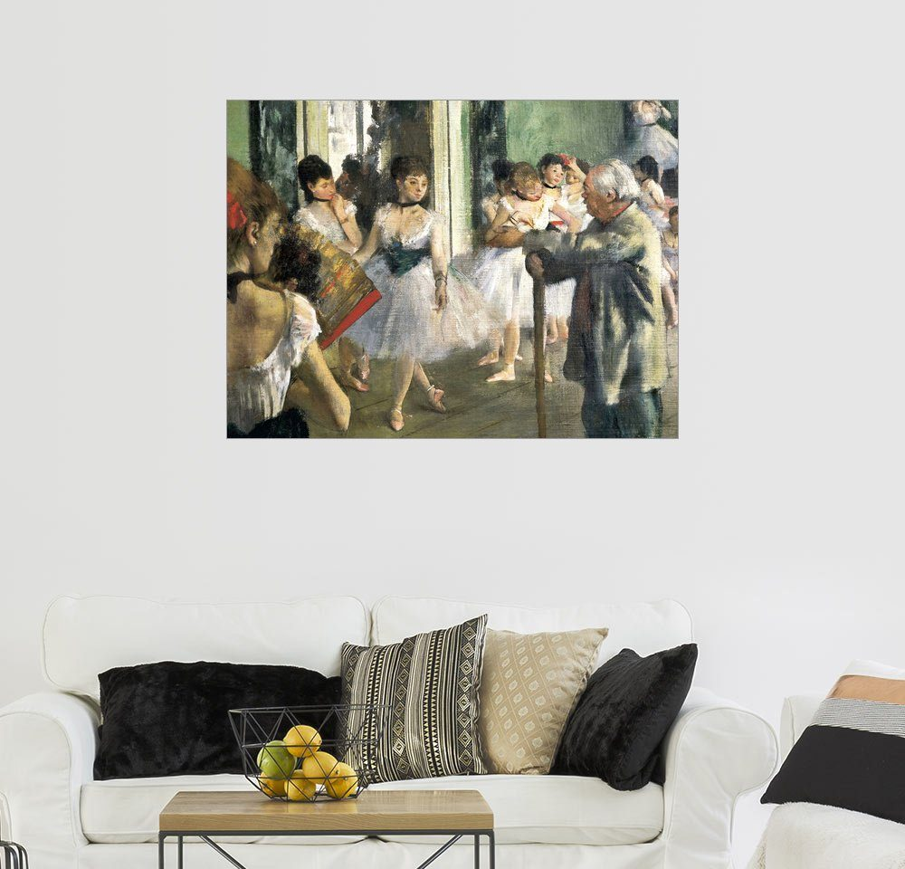 Posterlounge Wandbild - Edgar Degas »Tanzstunde, Detail«