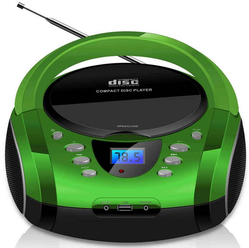Cyberlux »CL-700« tragbarer CD-Player (Tragbarer CD-Player, FM Radio mit MP3 USB)