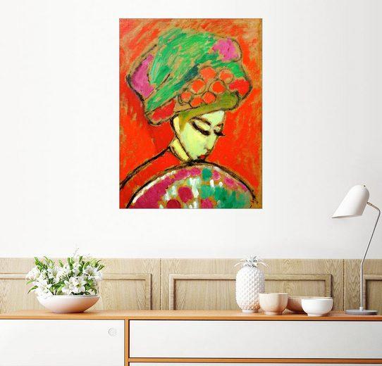 Posterlounge Wandbild - Alexej von Jawlensky »Mädchen mit Blumenhut«