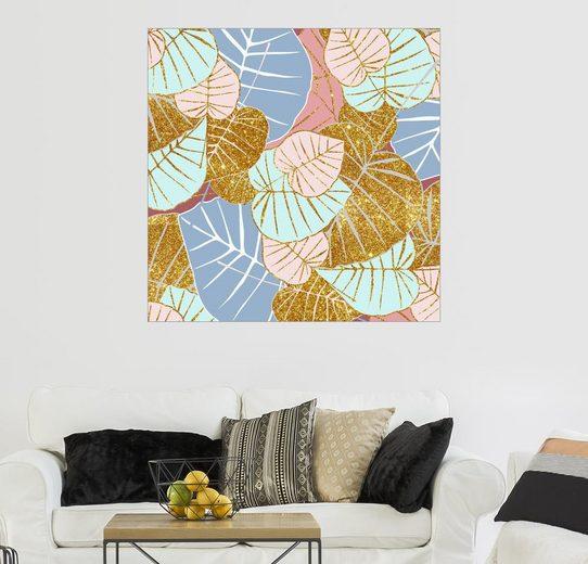 Posterlounge Wandbild - Uma 83 Oranges »Floral Gold«