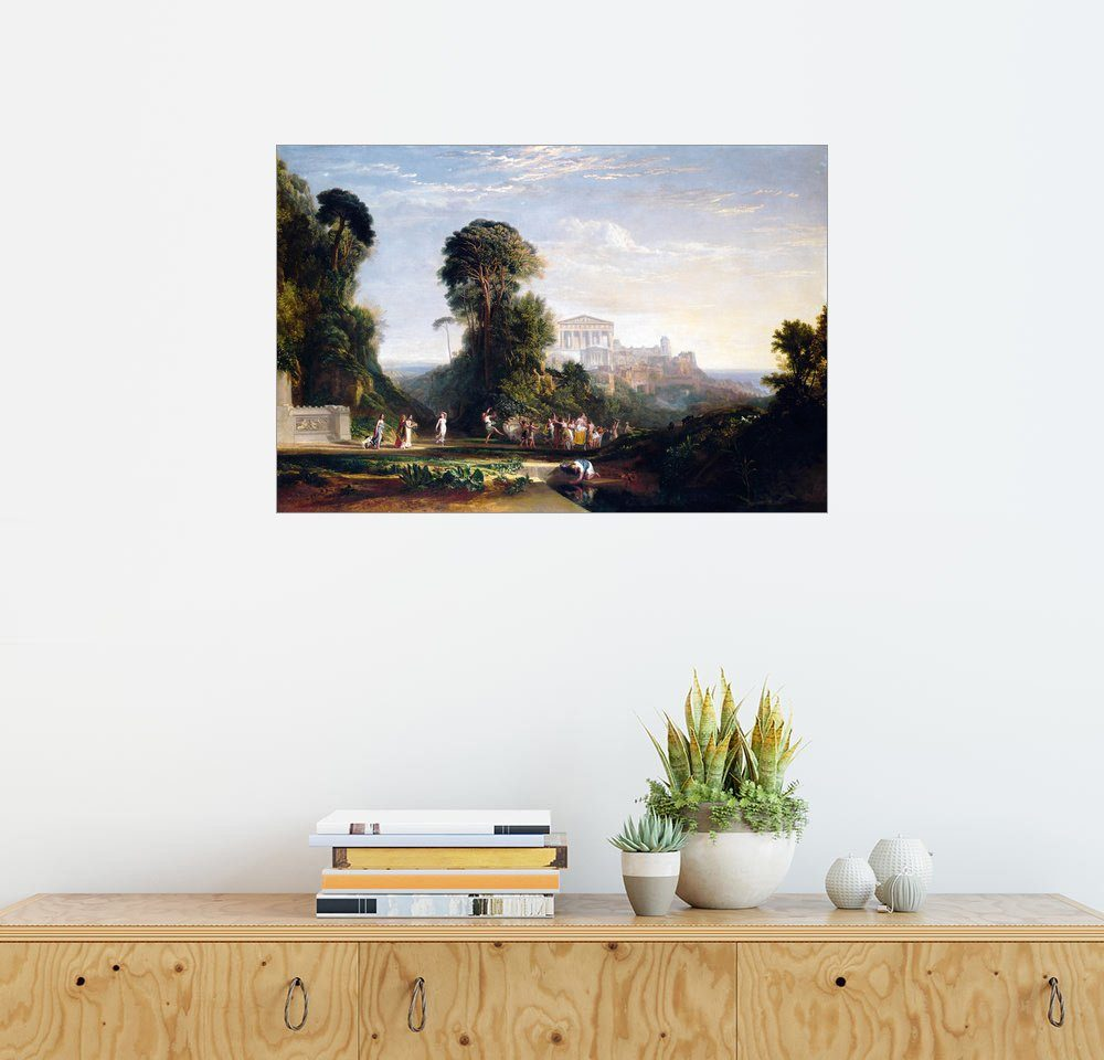 Posterlounge Wandbild - Joseph Mallord William Turner »Tempel des Jupiter Prometheus«