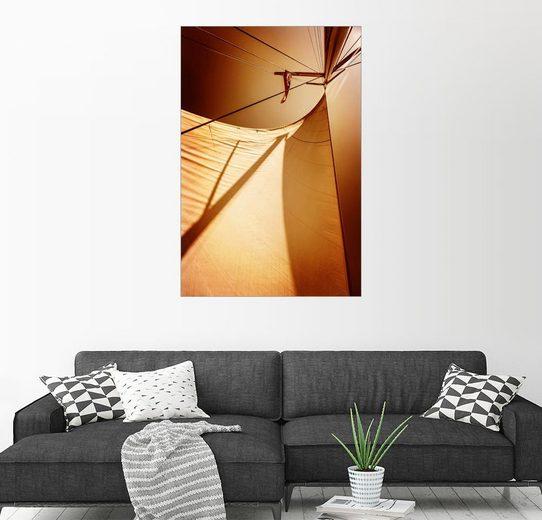 Posterlounge Wandbild »Segel im Abendlicht«