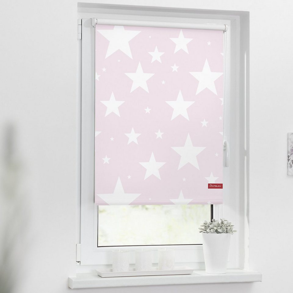 lichtblick rollo klemmfix ohne bohren verdunkelung sterne rosa online kaufen otto. Black Bedroom Furniture Sets. Home Design Ideas