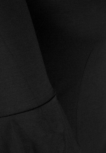 Doris Streich Jerseykleid mit Trompetenärmeln, große Größen