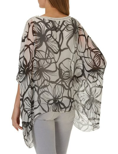 Cartoon Bluse Mit Floralem Print