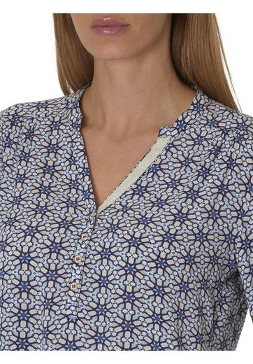 Cartoon Bluse mit Allover Muster