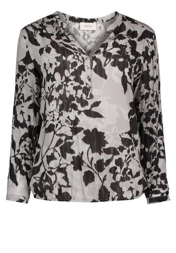 Cartoon Blouse Viskoseware From Flowing And Floral Pattern