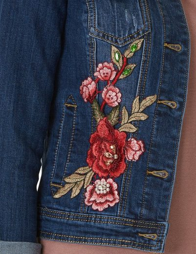 Cartoon Blaue figurnahe Jeansjacke