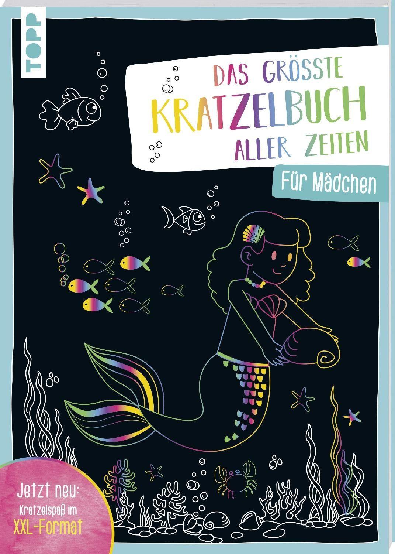 """Topp Buch """"Das größte Kratzelbuch aller Zeiten für Mädchen"""" 12 Seiten"""