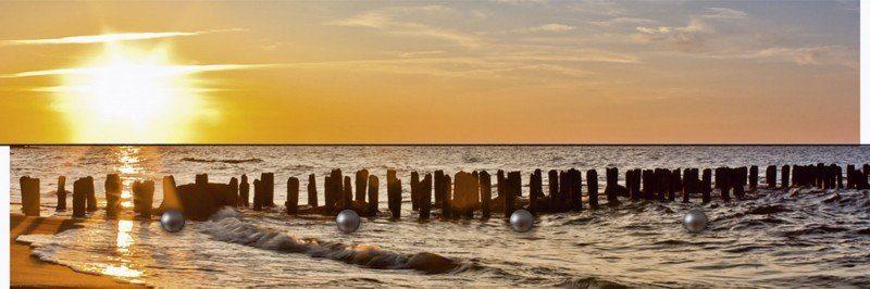 Artland Wandgarderobe »Sebastien Decoret: Sonnenuntergang am Strand«