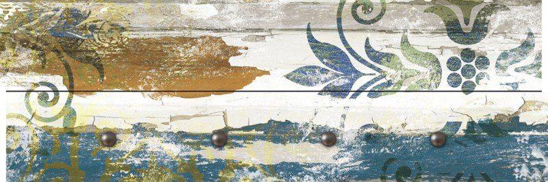 Artland Wandgarderobe »Jule: Retro Verzierungen in blau und orange«