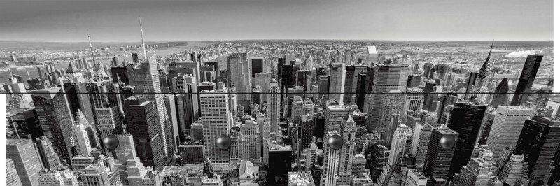 Artland Wandgarderobe »Luciano Mortula: Luftbild Manhattan New York City«