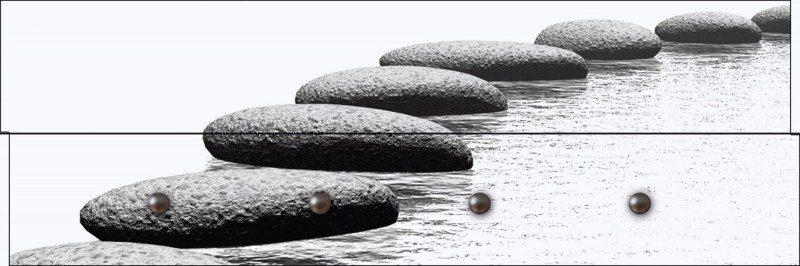 Artland Wandgarderobe »Sergey Galushko: Schwimmende Steine«