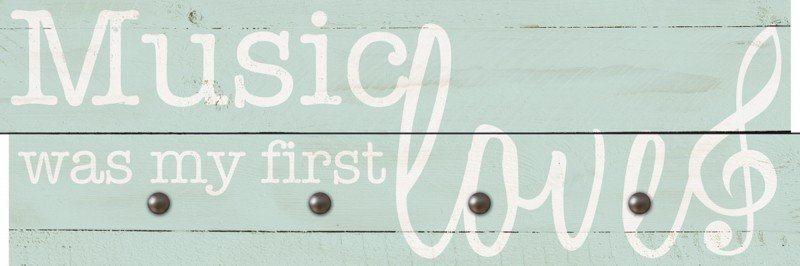 Artland Wandgarderobe »Jule: Die Musik war meine erste Liebe« | Flur & Diele > Garderoben > Garderobenhaken | Mdf - Holzfaserplatte | Artland