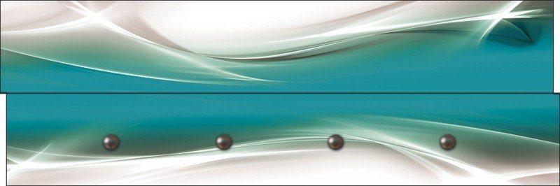 Artland Wandgarderobe »Designus: Kreatives Element Petrol« | Flur & Diele > Garderoben > Garderobenhaken | Petrol | Mdf - Holzfaserplatte | Artland