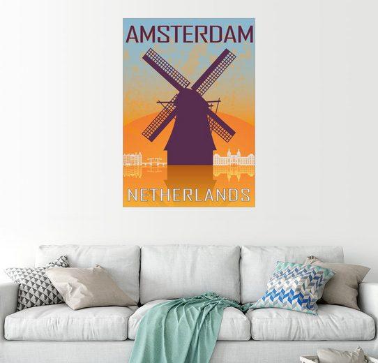Posterlounge Wandbild »Amsterdam«