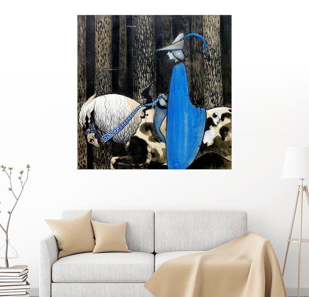 Posterlounge Wandbild - John Bauer »Der blaue Reiter«