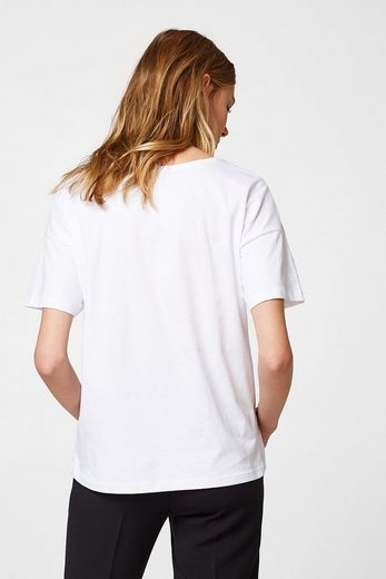Esprit Collection Boxy Shirt With Pearls, 100% Cotton