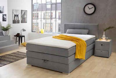 Boxspringbett weiß mit bettkasten  Boxspringbett mit Bettkasten & Schubladen kaufen | OTTO