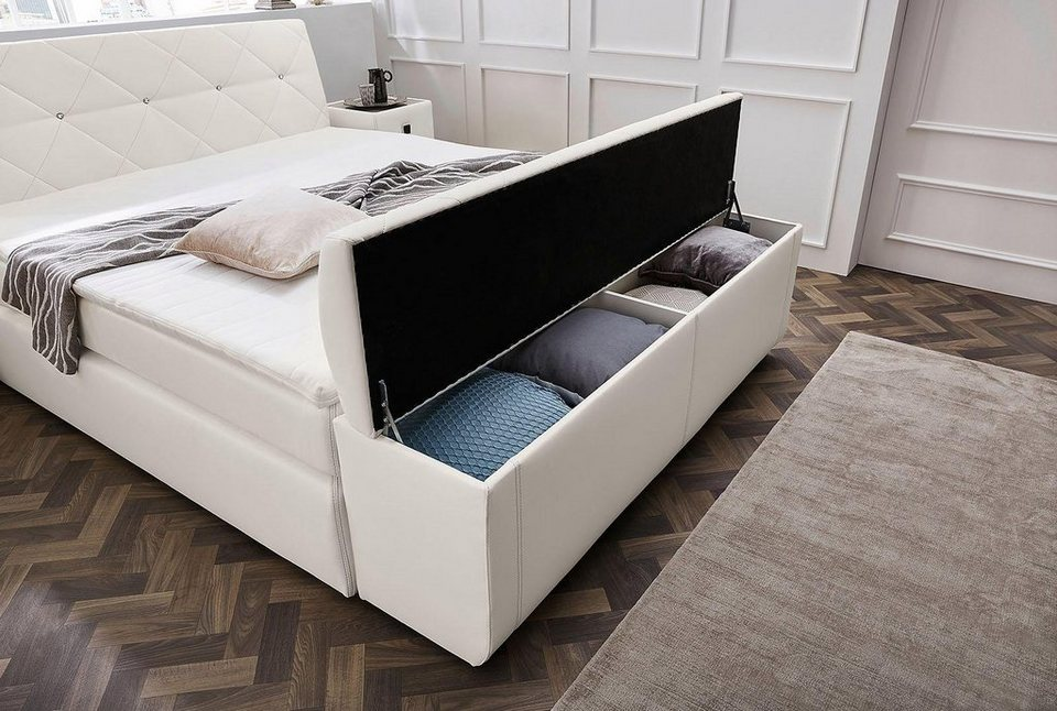 bettbank mit stauraum kunstlederbezug kaufen otto. Black Bedroom Furniture Sets. Home Design Ideas