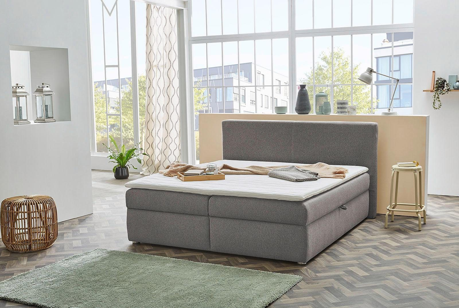 Jockenhöfer Gruppe Polsterbett mit Bettkasten und Topper