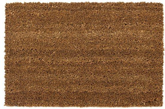 Fußmatte »Kokos uni«, Andiamo, rechteckig, Höhe 15 mm, In- und Outdoor geeignet