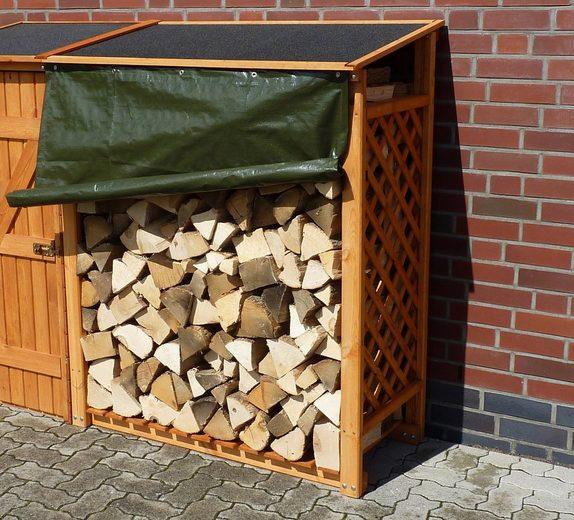 PROMADINO Erweiterungselement , für Kaminholzregal »Speyer«, 120x68x148 cm, mit Wetterschutz