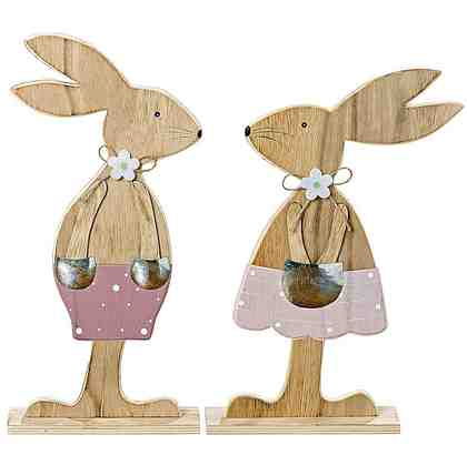 Deko-Hasenpaar, 2tlg., »Liz & Lou«