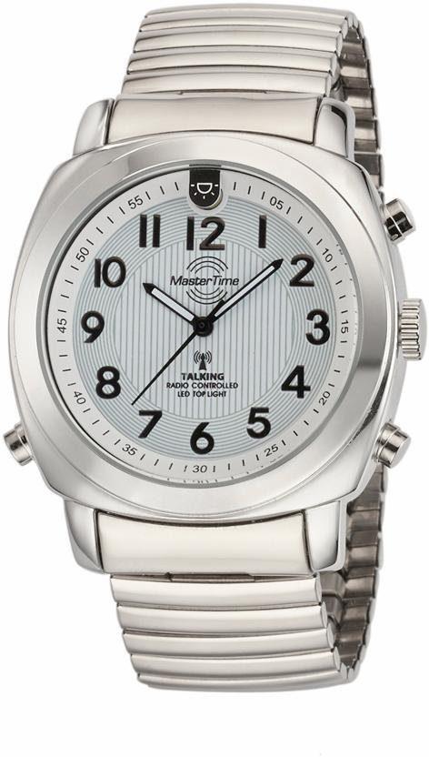 MASTER TIME Funkuhr »Talking Watch, MTGA-10633-11M«, mit Ansage von Uhrzeit, Datum, Wochentag