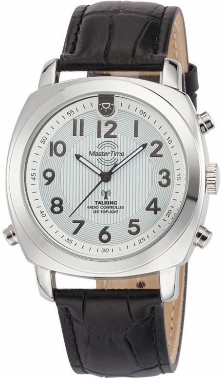 MASTER TIME Funkuhr »Talking Watch, MTGA-10632-10L« mit Ansage von Uhrzeit, Datum, Wochentag