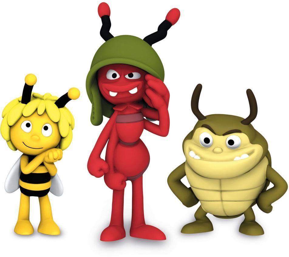 Schleich® Spielfigurenset 3-tlg. (27012), »Die Biene Maja, Film Set 1«