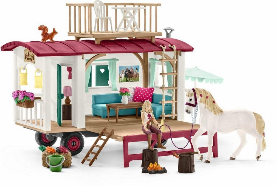 schleich spielset 42415 horse club wohnwagen f r geheime club treffen online kaufen otto. Black Bedroom Furniture Sets. Home Design Ideas