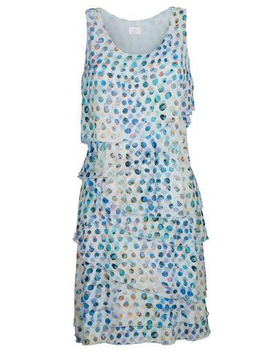 Alba Moda Druckkleid in modischer Lagenverarbeitung