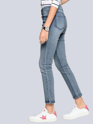 Alba Moda Jeans mit Cut-Outs in Sternenform