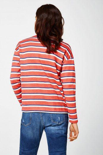 ESPRIT Pullover mit Tunnelzug, Baumwoll-Mix