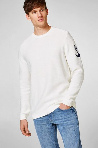Esprit-knit Sweater Made Of Pure Cotton